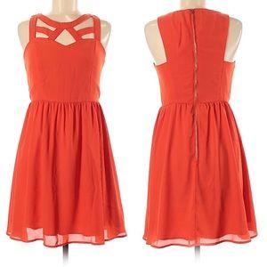 Altar'd State Lattice Neckline Dress Size Medium